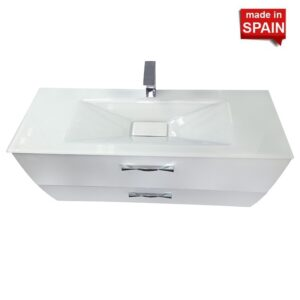 48 inch Modern Bathroom Vanity London Gloss White