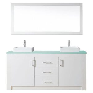 Virtu Usa Tavian 72 Inch Double Bathroom Vanity Cabinet Set