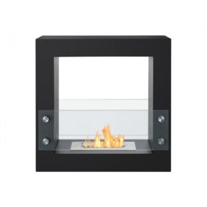 Tectum Mini Black Series - Freestanding Ethanol Fireplace