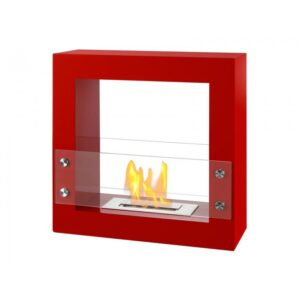 Tectum Mini Red Series - Freestanding Ethanol Fireplace