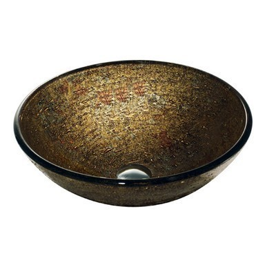 Textured Copper Glass Vessel Bathroom Sink Vigo Model number VG07025