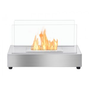 Tower Stainless Steel Series - Ventless Tabletop Ethanol Fireplace