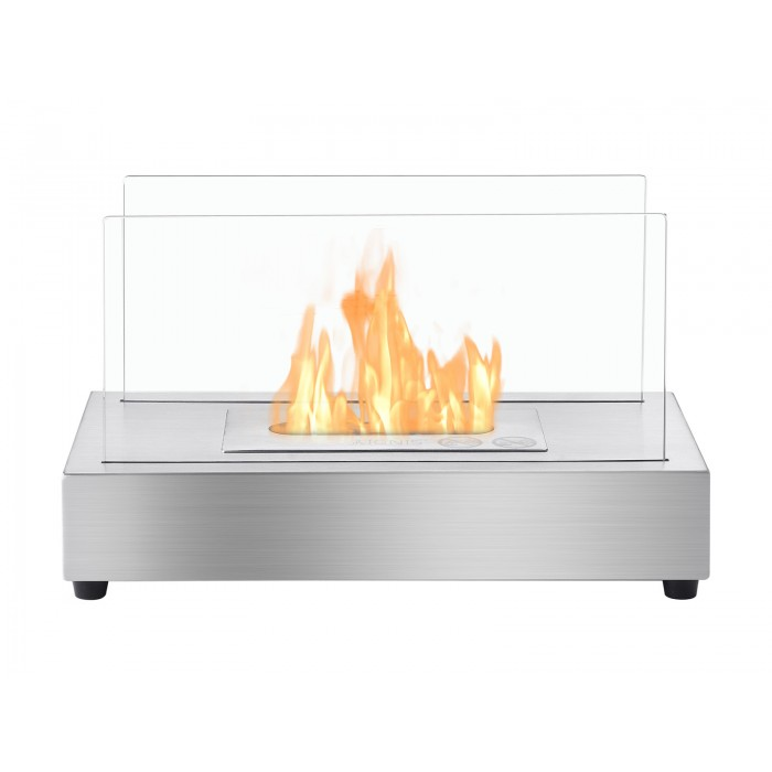 Tower Stainless Steel Series   Ventless Tabletop Ethanol Fireplace