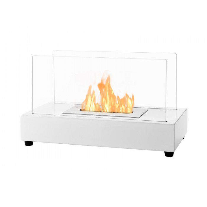 Tower White Series Ventless Tabletop Ethanol Fireplace