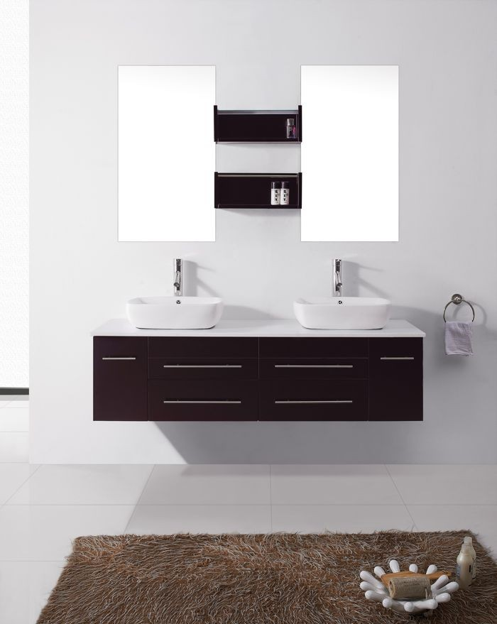 Virtu USA 56 Inch Augustine DOUBLE BATHROOM VANITY Espresso ... on 56 inch bookcase, 56 inch media cabinet, low profile bathroom vanity, 52 inch double sink vanity, black bathroom vanity, oak bathroom vanity, 56 inch kitchen island, outdoor bathroom vanity, 56 inch bathtub, 56 inch vanities, 56 inch curtains, 56 inch mirror, 56 white bathroom vanity, 50 inch single vanity, 56 inch fireplace mantel, 55-inch 2 door vanity, small bathroom vanity, vintage style bathroom vanity,