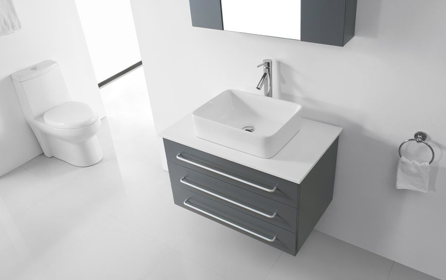 Virtu 32 Inch Ivy Bathroom Vanity Grey New Bathroom Style