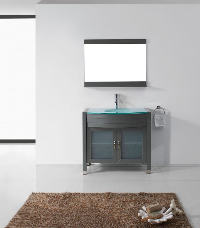 Virtu 36 Inch Ava Bathroom Vanity Grey Um 3071 G Gr 001
