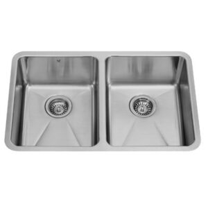 Vigo VG2918 29-inch Undermount Stainless Steel 18 Gauge Double Bowl Kitchen Sink
