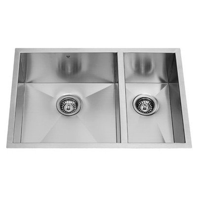 Vigo VG2920BLK1 29 inch Undermount Stainless Steel 16 Gauge Double Bowl Kitchen Sink