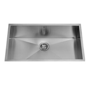 Vigo VG3019BK1 30 Inch Single Basin Undermount Stainless Steel Kitchen Sink with Sink Grid and Basket Strainer