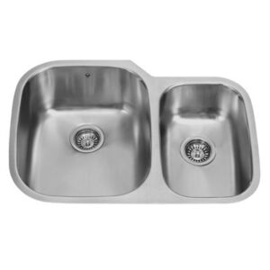 Vigo VG3021LK1 30-inch Undermount Stainless Steel Kitchen Sink, Grid and Two Strainers