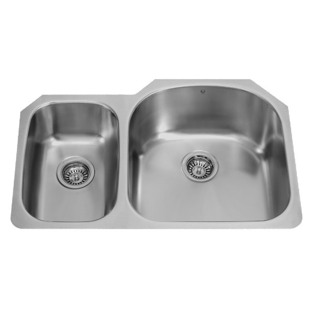 Vigo VG3121R 32 Inch Undermount Stainless Steel 18 Gauge Double Bowl Kitchen  Sink