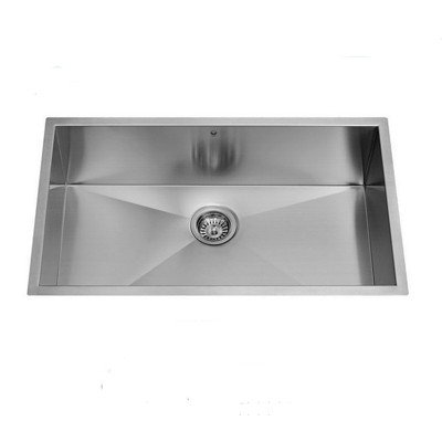 Vigo VG3219CK1 32 Inch Single Basin Undermount Stainless Steel Kitchen Sink with Sink Grid and Basket Strainer