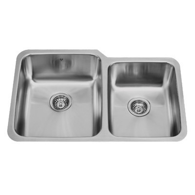 Vigo VG3221L 32-inch Undermount Stainless Steel 18 Gauge Double Bowl Kitchen Sink