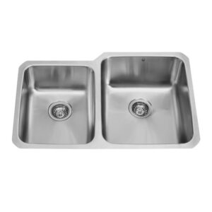 Vigo VG3221RK1 32-inch Undermount Stainless Steel Kitchen Sink, Two Grids and Two Strainers