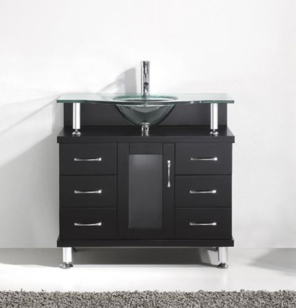 "Virtu USA 36"" Vincente - Espresso - SINGLE Sink Bathroom Vanity MS-36-G-ES"