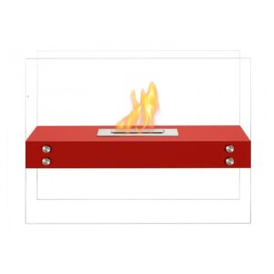 Vitrum H Red Series - Freestanding Ethanol Fireplace