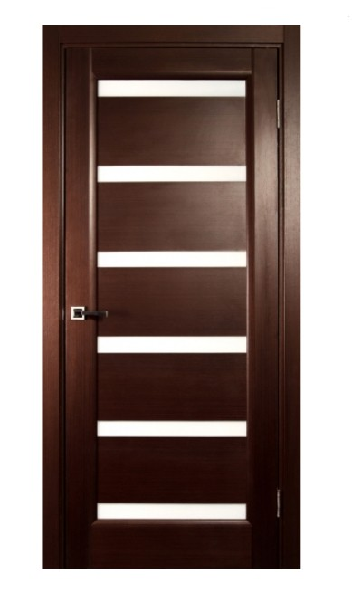 Interior Single Door, Wenge Veneer, Contemporary Design with Glass Panes