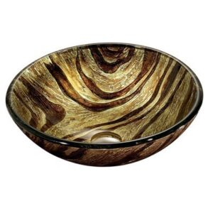Zebra Glass Vessel Bathroom Sink VIGO Model number VG07034