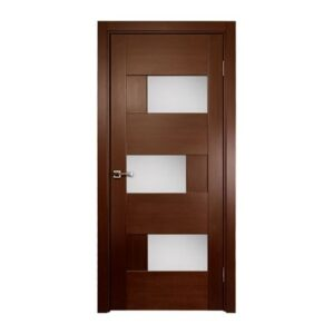 DOMINIKA Interior Door, Wenge Veneer, Contemporary Design with Glass