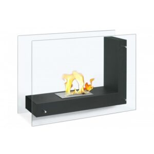 Freestanding Ethanol Fireplace Vitrum L Black