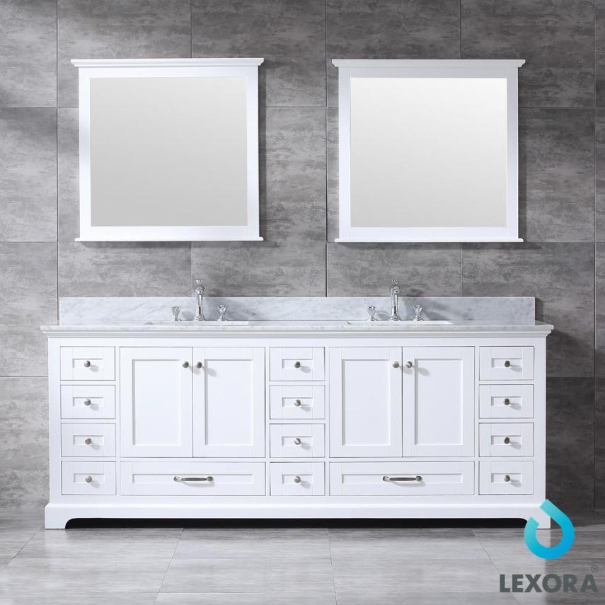 Lexora Dukes 84 White Double Bath