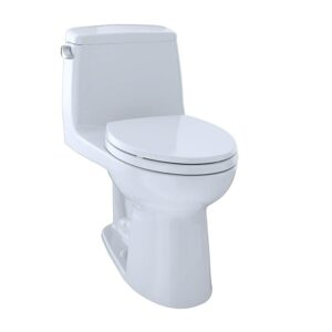 TOTO MS854114ELG 01 Eco Ultramax ADA Elongated One Piece Toilet with Sanagloss Cotton White