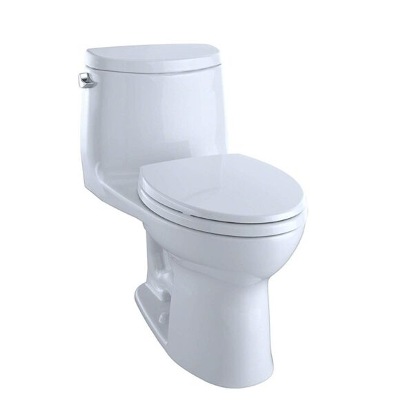 TOTO UltraMax II One-Piece Elongated 1.28 GPF Universal Height Toilet with CEFIONTECT Cotton White