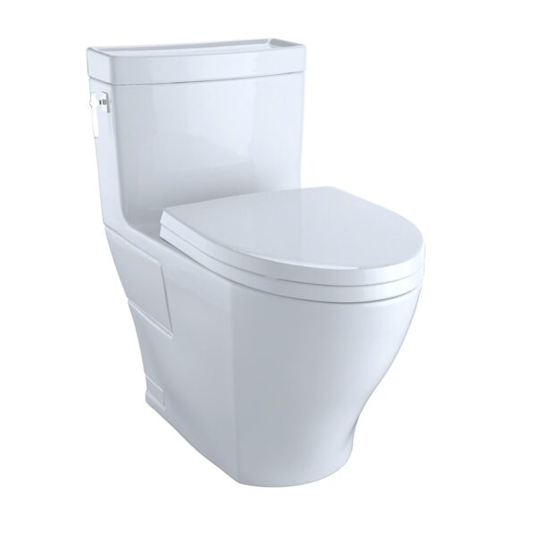 Toto MS626214CEFG Aimes One-Piece High-Efficiency Toilet 1.28GPF with Sana Gloss Cotton