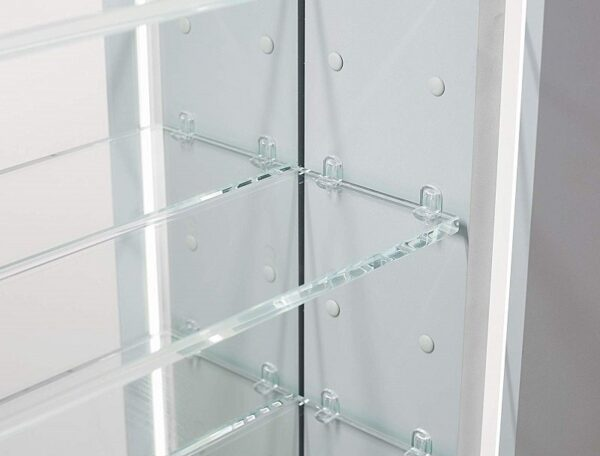 AQUADOM Royal Basic 24 inch - 30 inch Right Hinges LED Medicine Cabinet With Dimmer