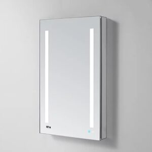 AQUADOM Signature Royale 24inch to 30 inch Right Hinge LED Medicine Cabinet