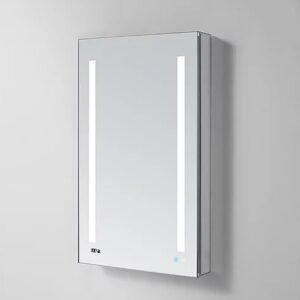 AQUADOM Signature Royale 24inch x 30 inch Left Hinge LED Medicine Cabinet_