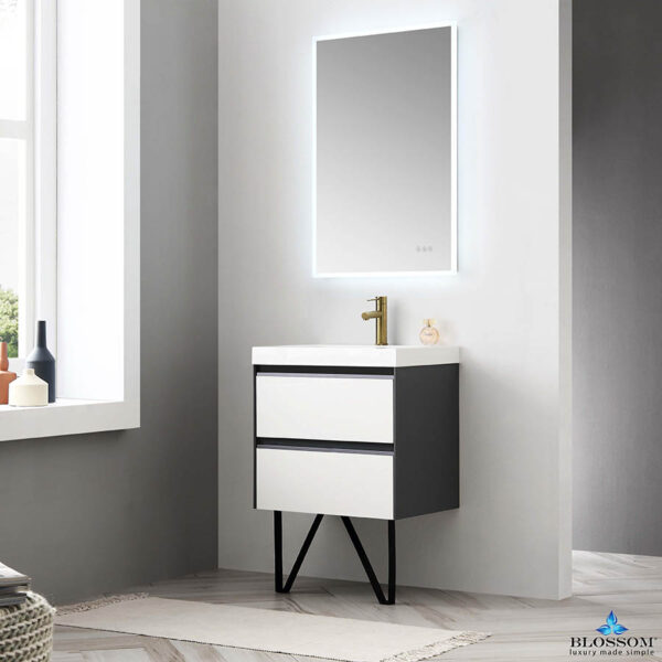 Blossom BERLIN 24 Inch Wall Mount Bathroom Vanity