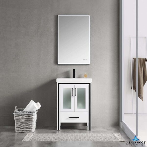 Blossom BIRMINGHAM 24 Inch Bathroom Vanity Color Glossy White Acrylic Top