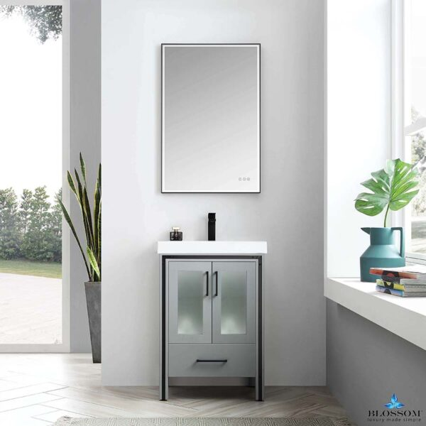 Blossom BIRMINGHAM 24 Inch Bathroom Vanity Color Matte Grey Acrylic Top