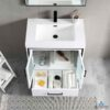 Blossom BIRMINGHAM 30-Inch Freestanding Bathroom Cabinet Acrylic Top Color Glossy White