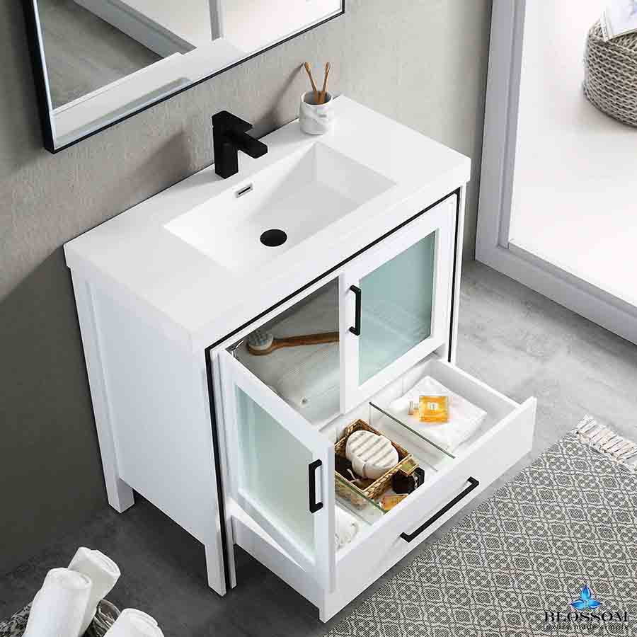 36 Inch Bathroom Cabinet Color Glossy White
