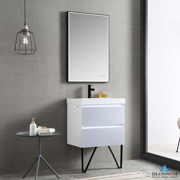 Blossom JENA 24 Inch Wall Mount-Bathroom Vanity Light Grey LED Strip Lights