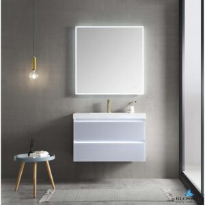 Blossom JENA 36 Inch Floating Bathroom Vanity Color Light Grey With LED Strip Lights
