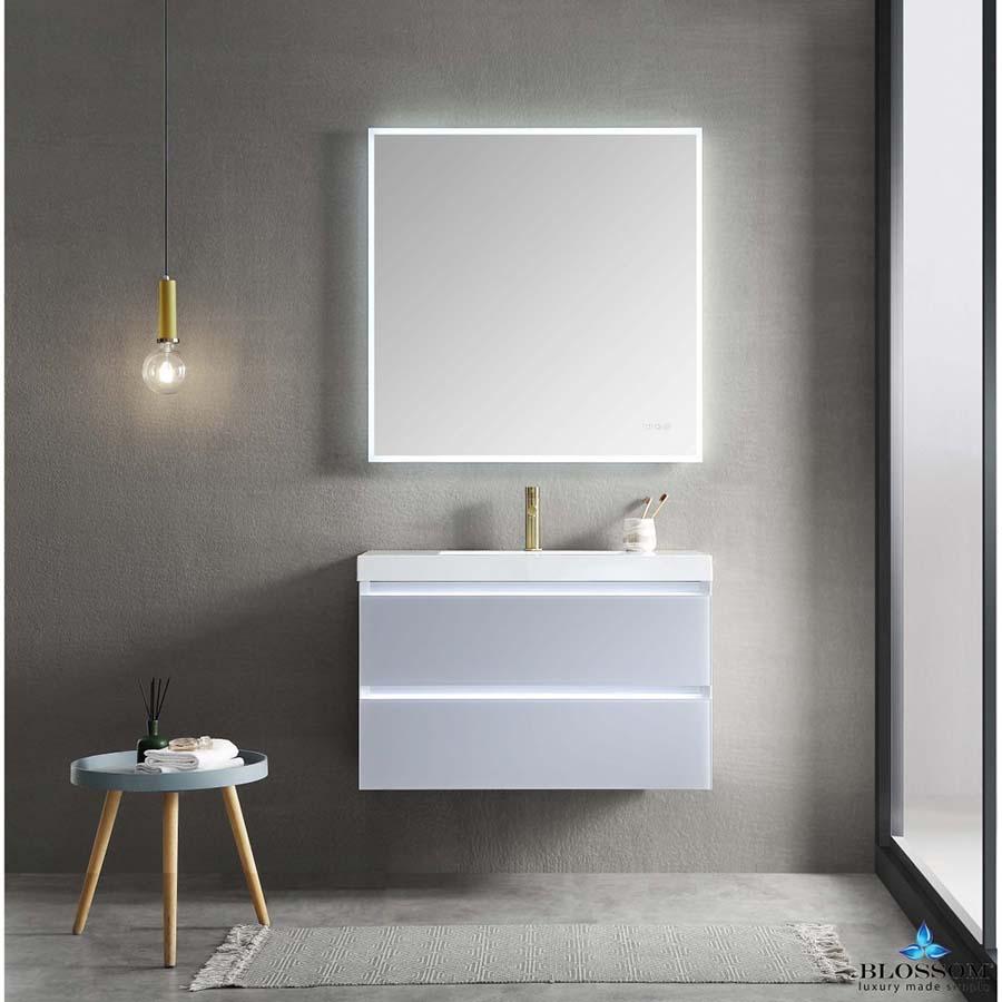 Blossom Jena 36 Inch Floating Bathroom Vanity Color Light Grey