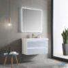 Blossom JENA 36 Inch Floating Bathroom Vanity Color Light Grey With LED Strip Lights