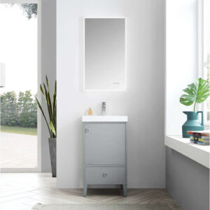Blossom LYON 20 Inch Bathroom Vanity Metal Grey