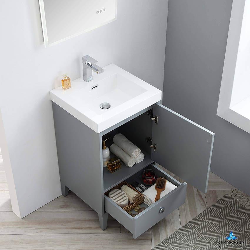 Blossom ️ LYON 20 Inch Small Bathroom Vanity Color Metal Grey