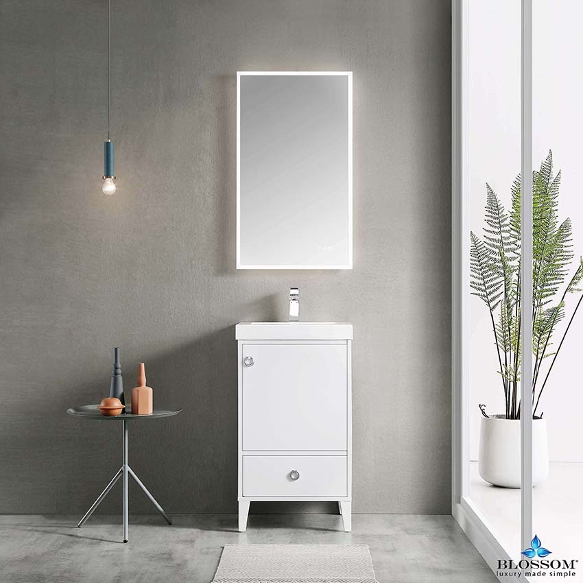 Blossom ️ LYON 20 Inch Small Bathroom Vanity Color Matte White