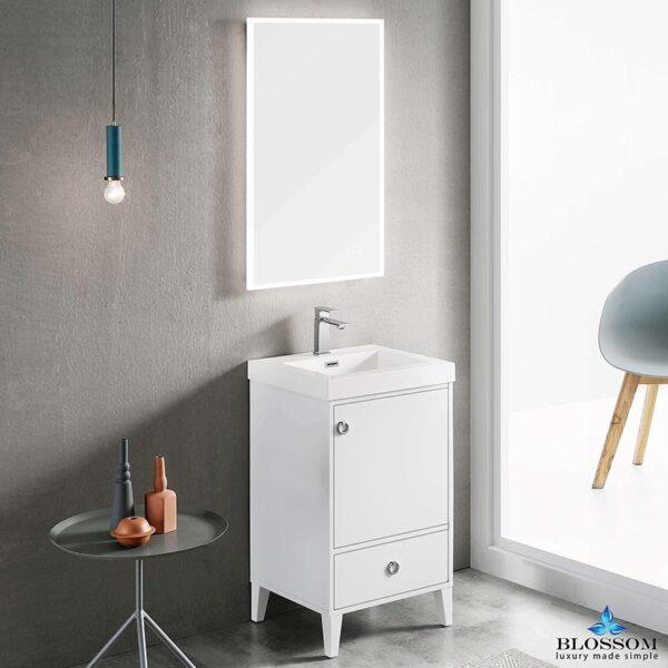 Blossom LYON 20 Inch White Modern Bathroom Vanity