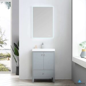Blossom LYON 24 Inch Bathroom Vanity Color Metal Grey
