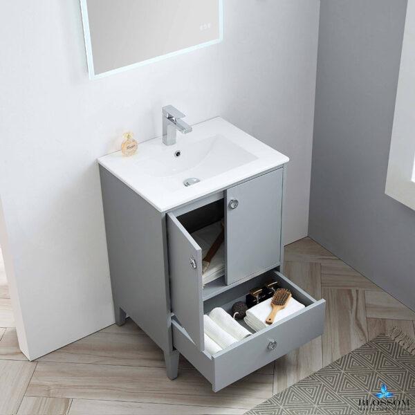 Blossom LYON 24 Inch Bathroom Vanity Color Metal Grey