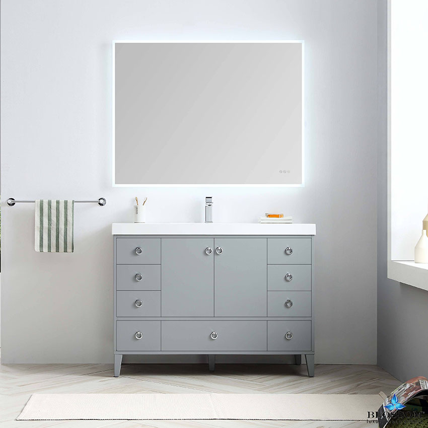 Blossom Lyon 48 Inch Single Modern Bathroom Vanity Color Metal Grey