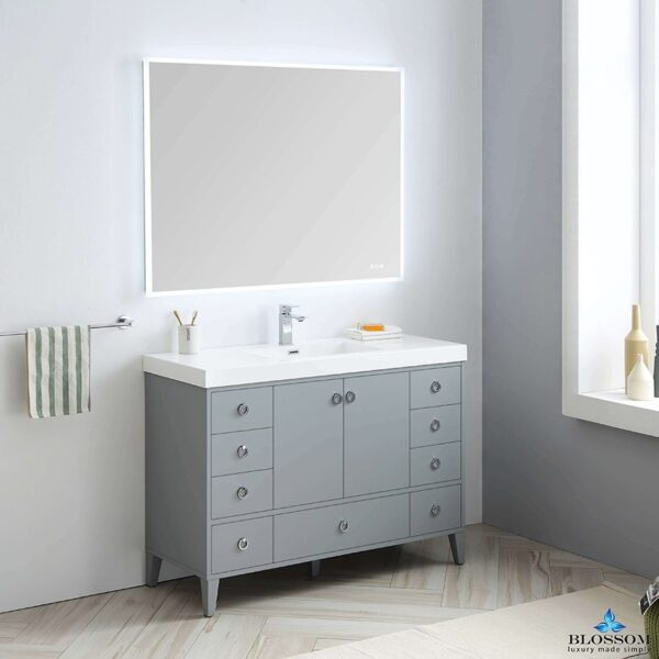 Blossom Lyon 48 Inch Single Bathroom Vanity Color Metal Grey
