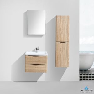 Blossom MADRID 24 Inch Color White Oak Floating Bathroom Cabinet